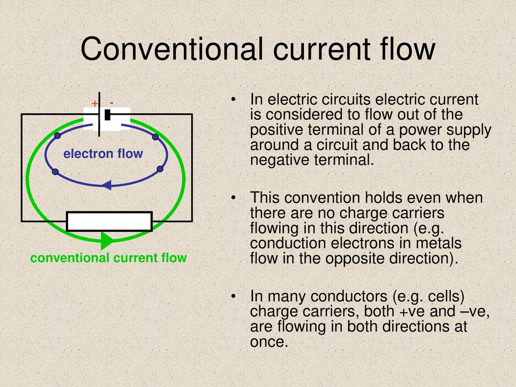 circuit components ppt downloadconventional current flow