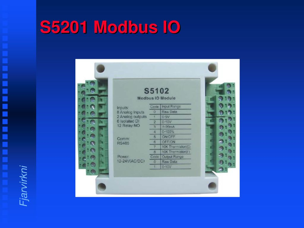 S5201 Modbus IO  - ppt download