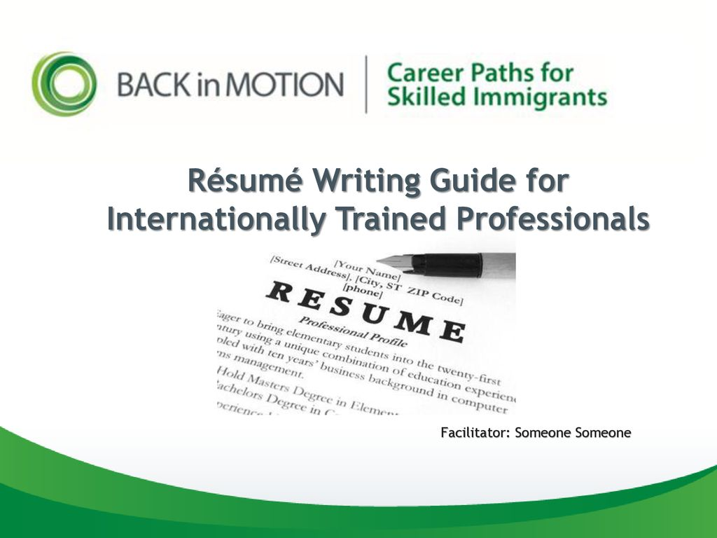 Internationally Trained Professionals.
