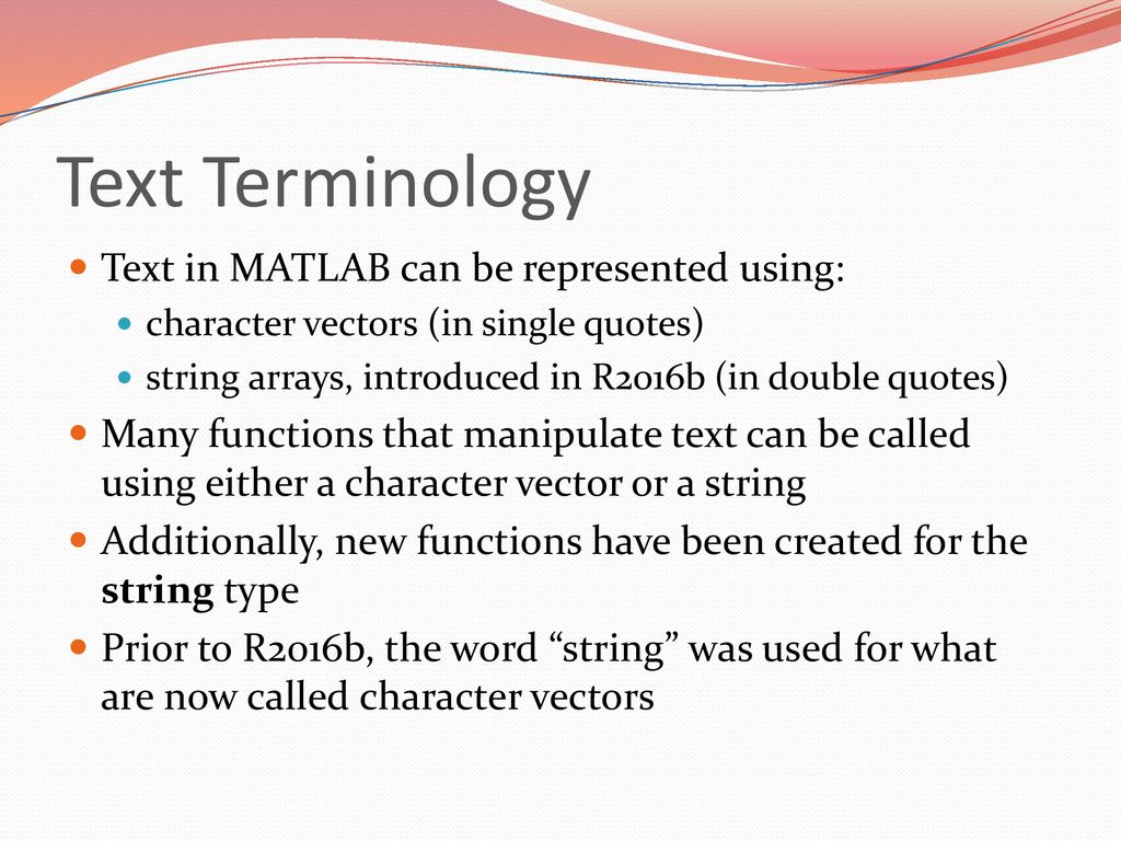 Text Manipulation Chapter 7 Attaway MATLAB 5E  - ppt download
