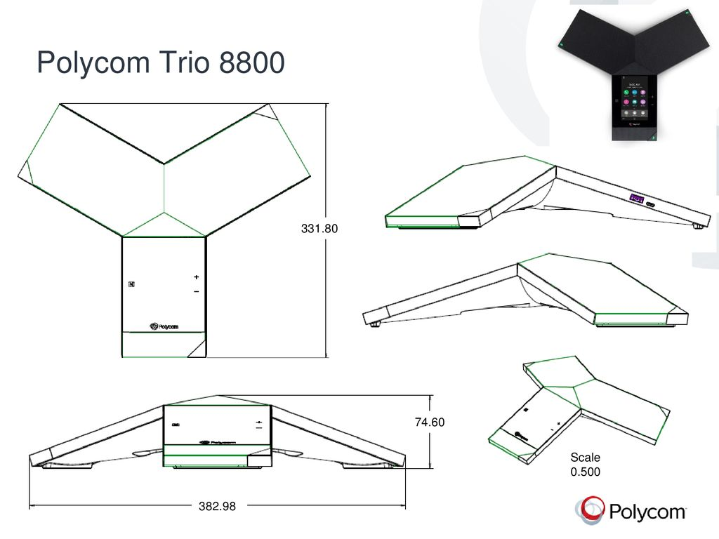 Polycom Trio 8800/8500 line drawings May ppt download