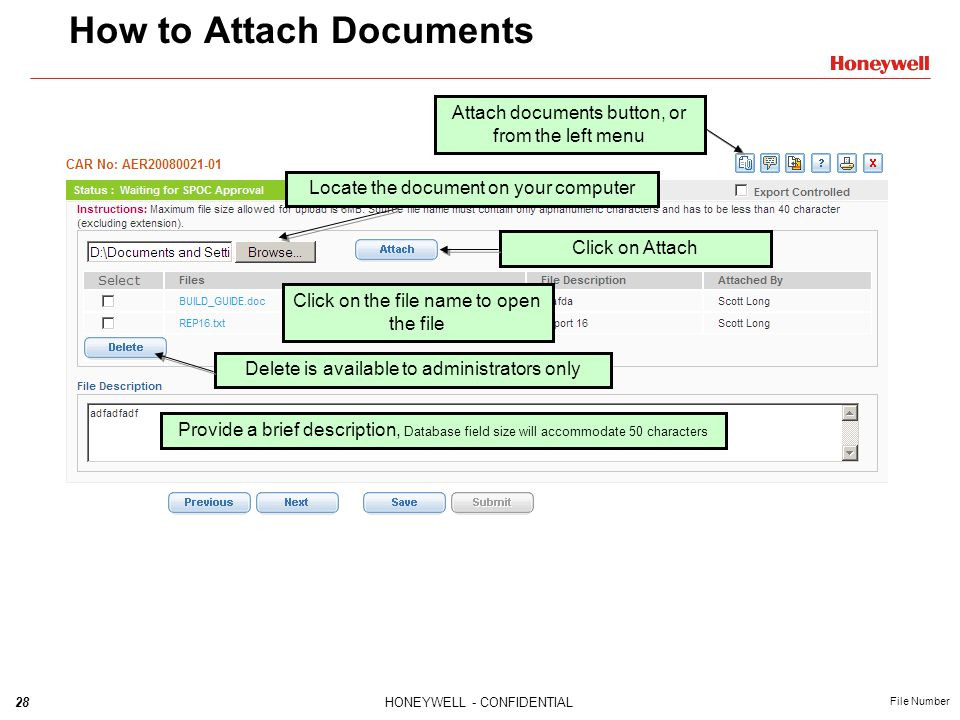 How to Attach Documents