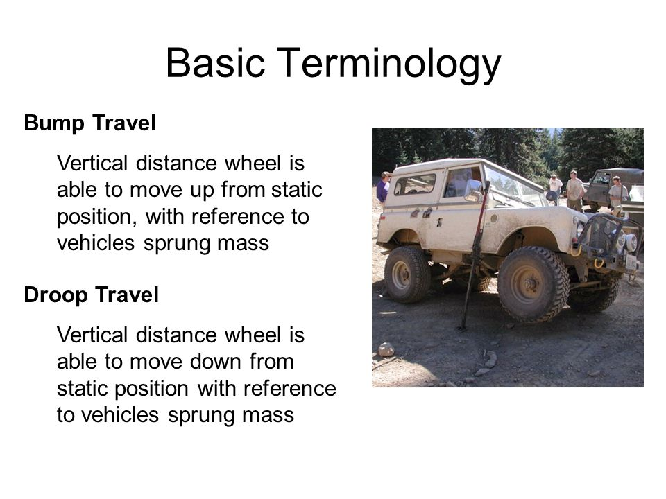 Basic Terminology Bump Travel