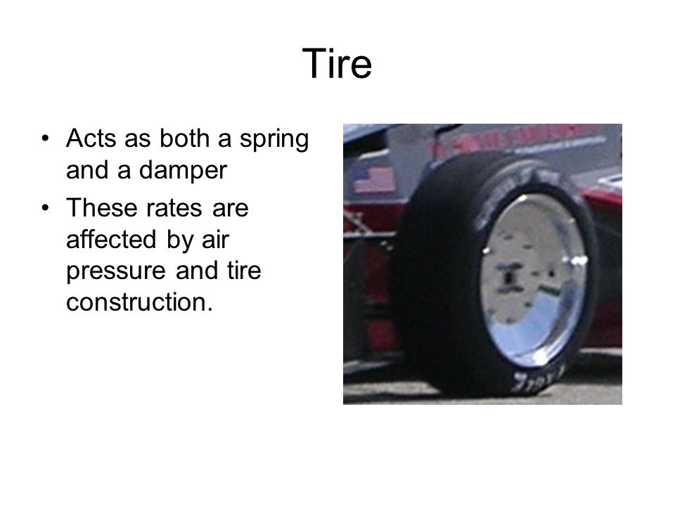 Tire Acts as both a spring and a damper