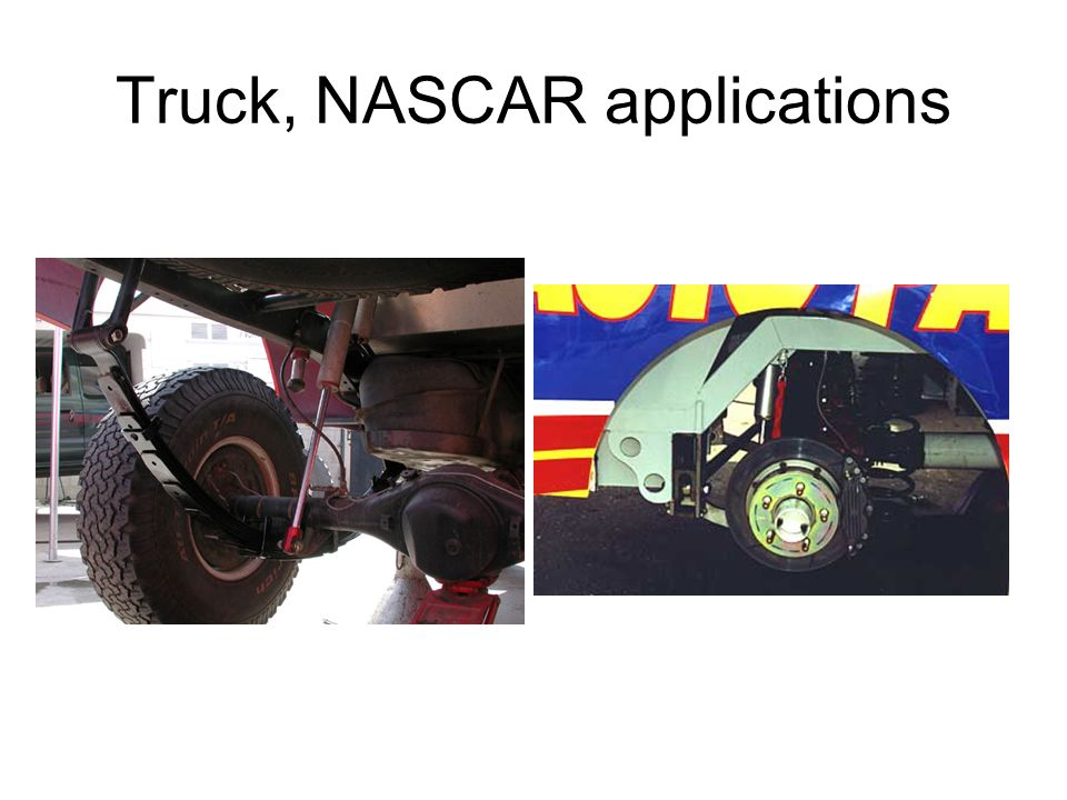 Truck, NASCAR applications