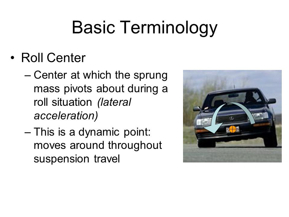 Basic Terminology Roll Center