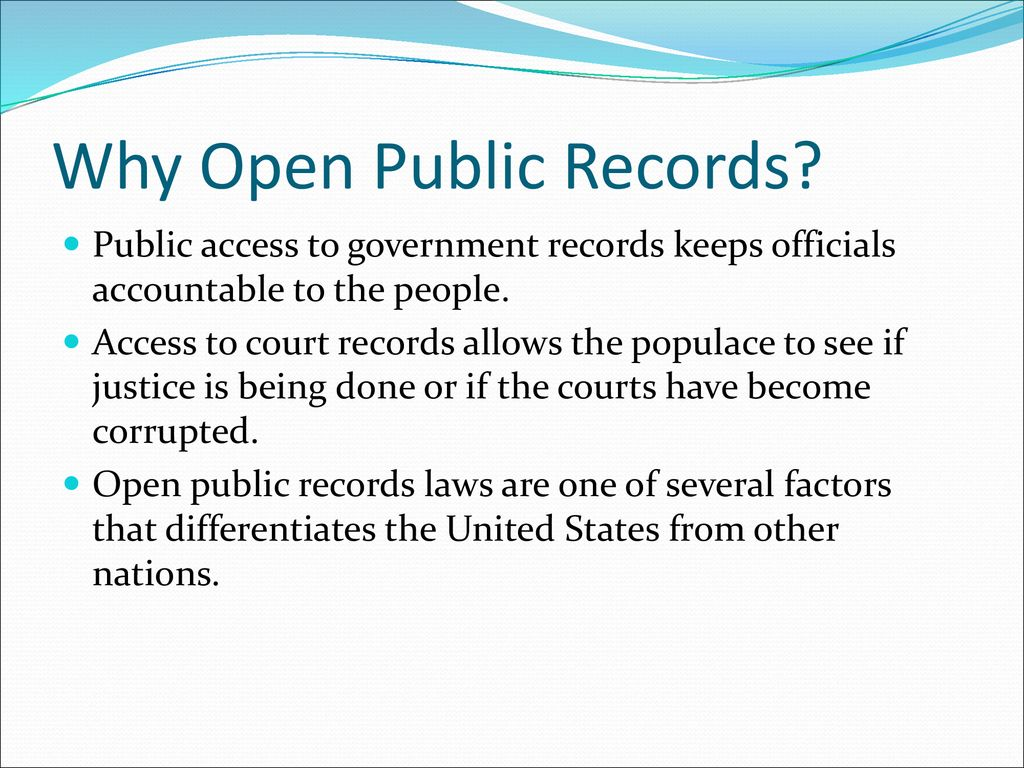 Records Management and Public Records Laws - ppt download
