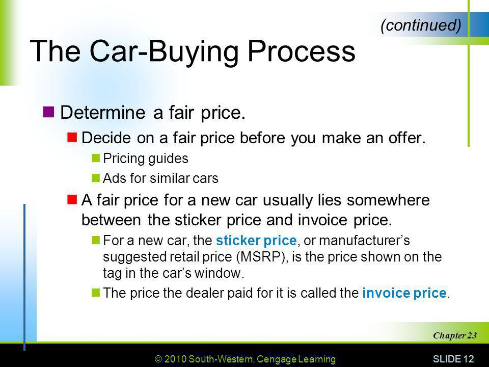 Buying And Owning A Vehicle Ppt Video Online Download - New car sticker price vs invoice price
