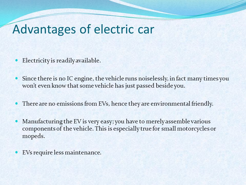 Advantages Of Electric Car
