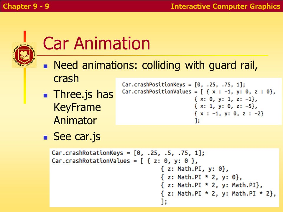 CS 352: Computer Graphics A WebGL Game With Three js  - ppt