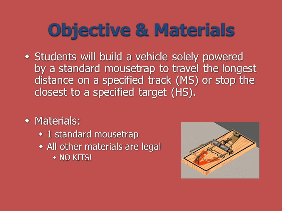 Objective & Materials