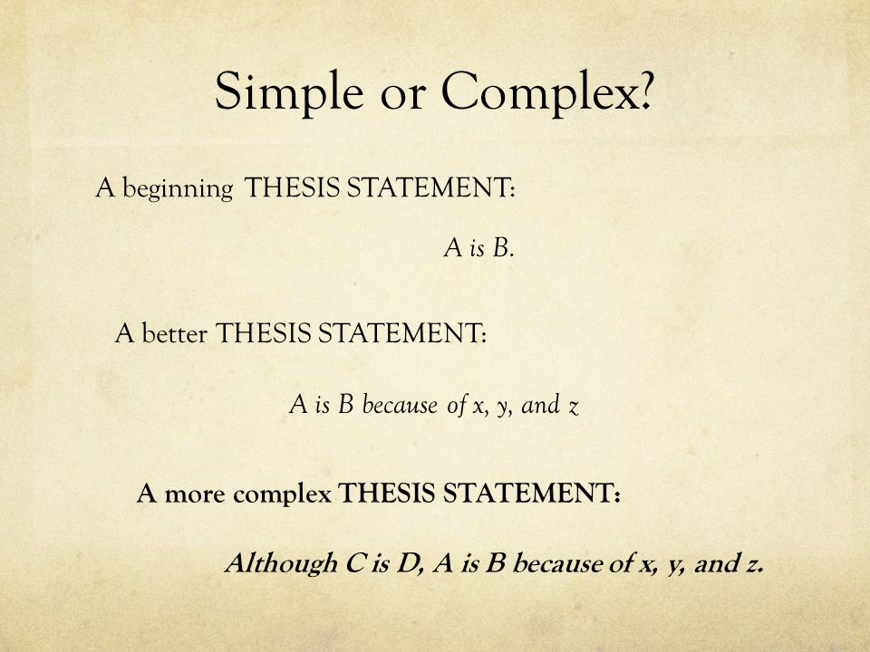 Thesis Statements. - Ppt Video Online Download