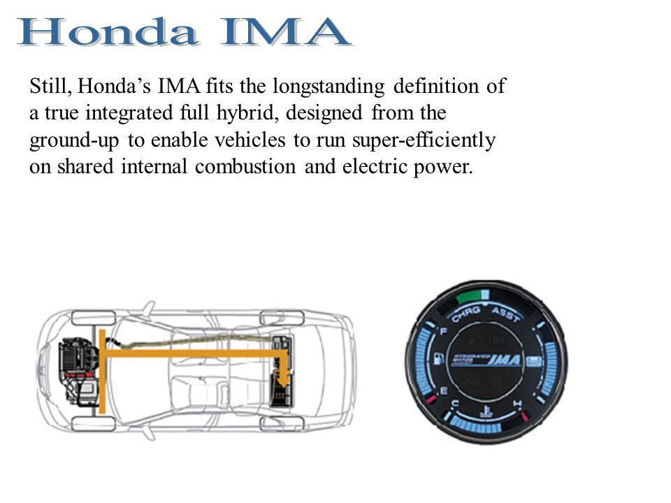 Honda S Ima Fits The Longstanding Definition Of A True Integrated Full Hybrid Designed From Ground Up To Enable Vehicles Run Super Efficiently