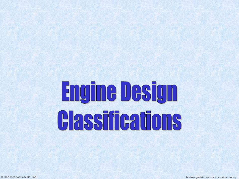 Engine Design Classifications