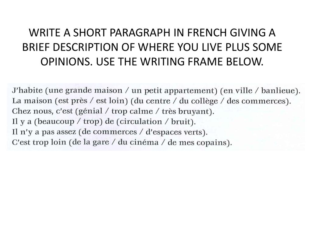 Walt Give Opinions With Justifications About Where I Live Ppt Download To say which city you live in in french, you can use the verb habiter (to live somewhere) as such walt give opinions with justifications