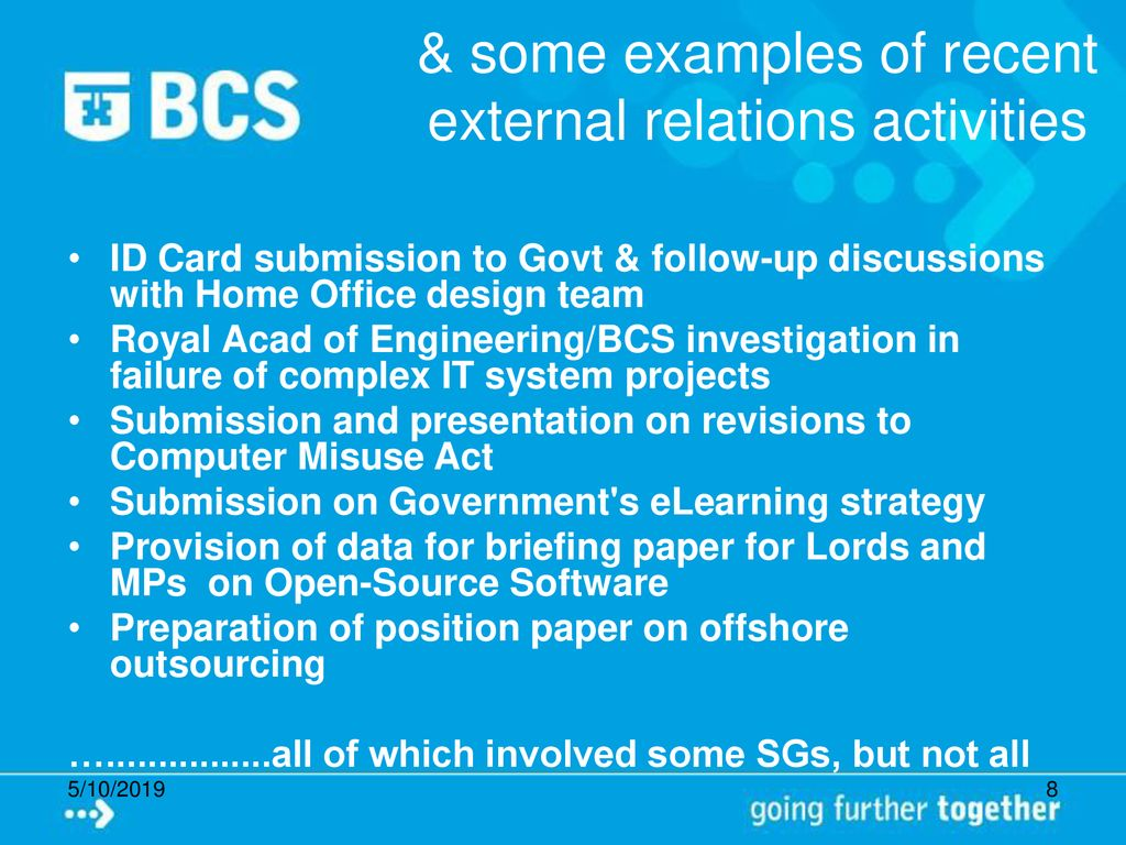 Putting the Specialist Groups at the Centre of the BCS - ppt