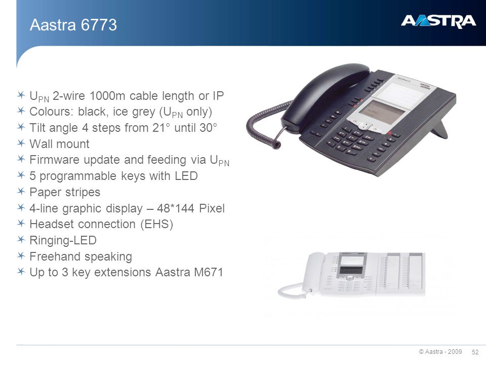 Aastra firmware update.