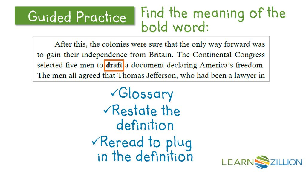 Voice: How do you find the meaning of a word in bold - ppt