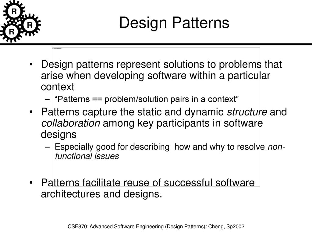 Cse870 Advanced Software Engineering Design Patterns Cheng Sp Ppt Download