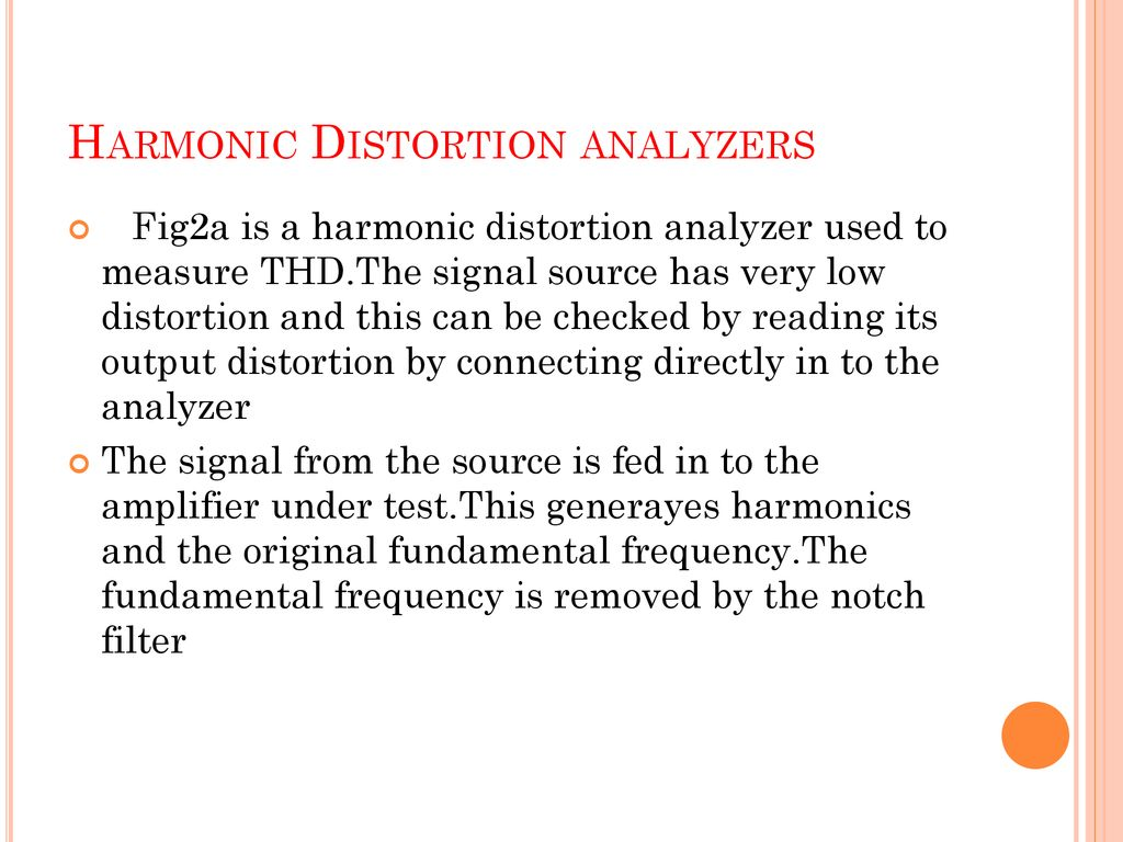 Module V Wave Analyzers - ppt download
