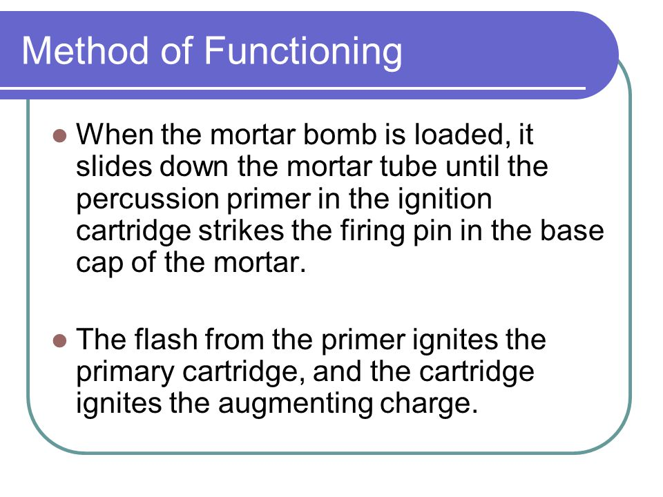 Mortar Bombs Lesson 25 6 Periods  - ppt video online download