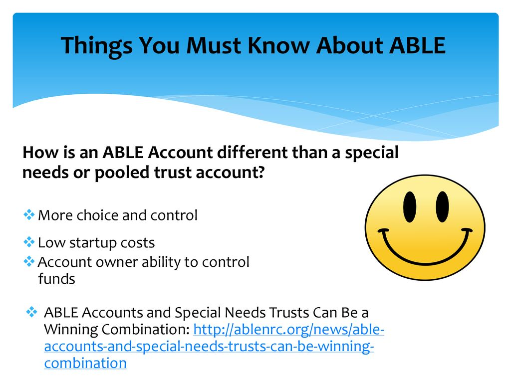 Able Accounts Offer New Choice For >> Able Achieving A Better Life Experience Ppt Download