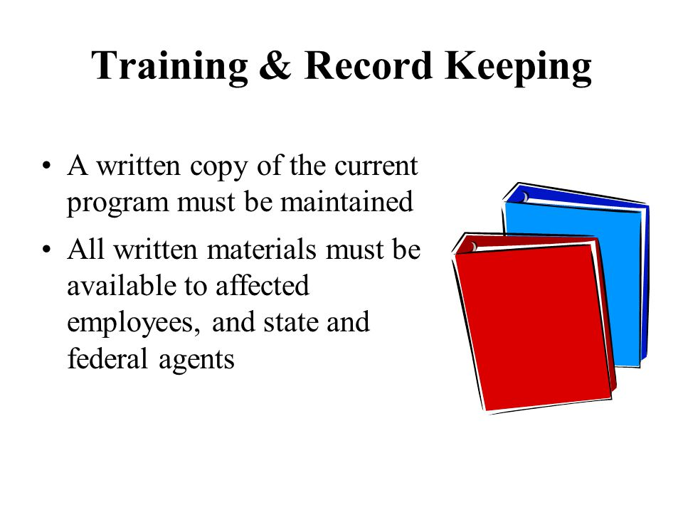 Training & Record Keeping