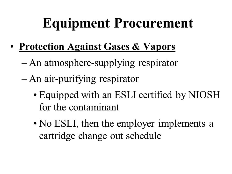 Equipment Procurement