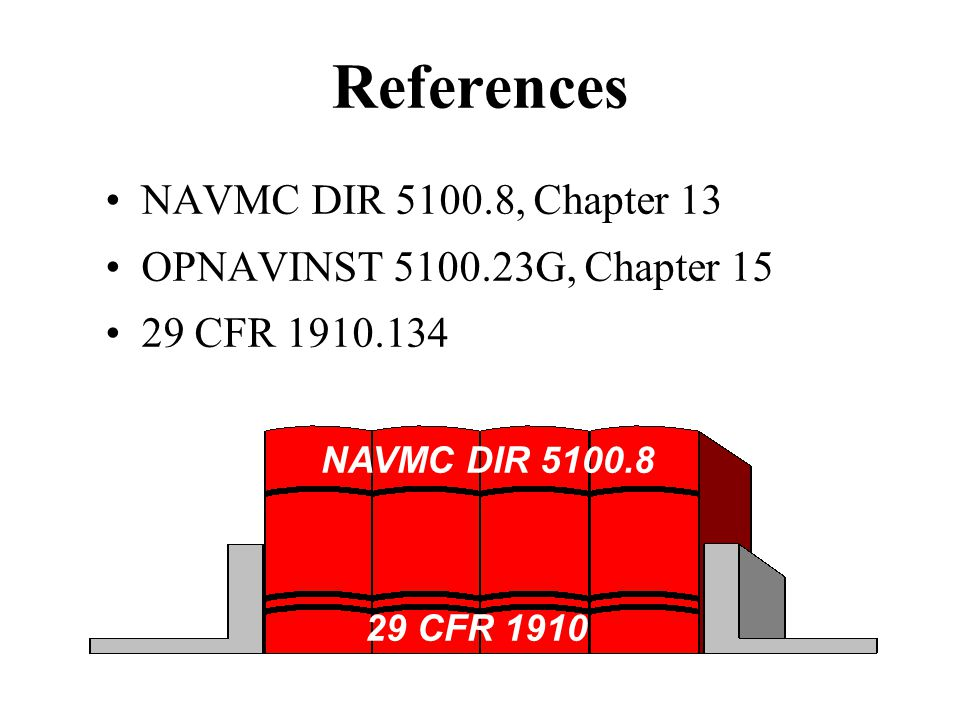 References NAVMC DIR , Chapter 13 OPNAVINST G, Chapter 15