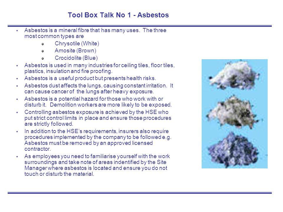 Tool Box Talk – Training Kit - ppt download