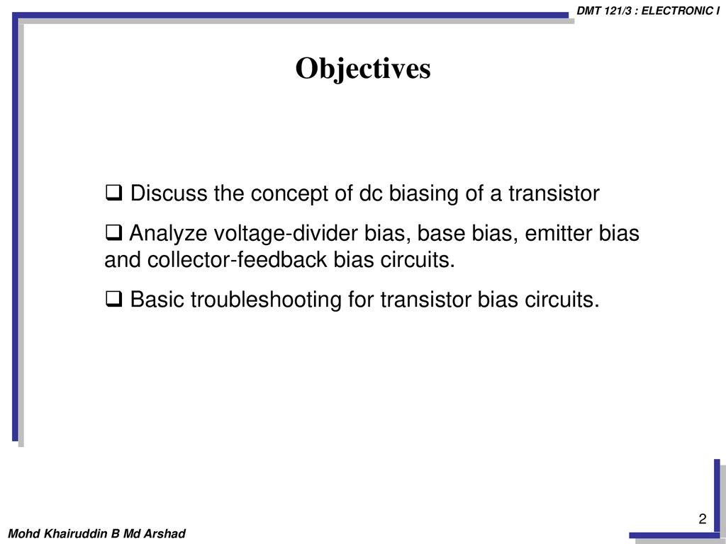 ChapTer FoUr DC BIASING - BIPOLAR JUNCTION TRANSISTORS (BJTs