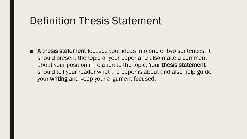 Thesis Statements English Composition I. - Ppt Download