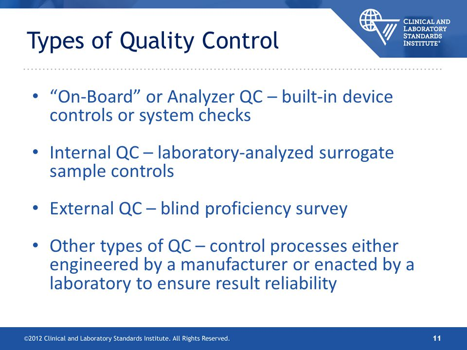 Clsi Ep23 Laboratory Quality Control Based On Risk