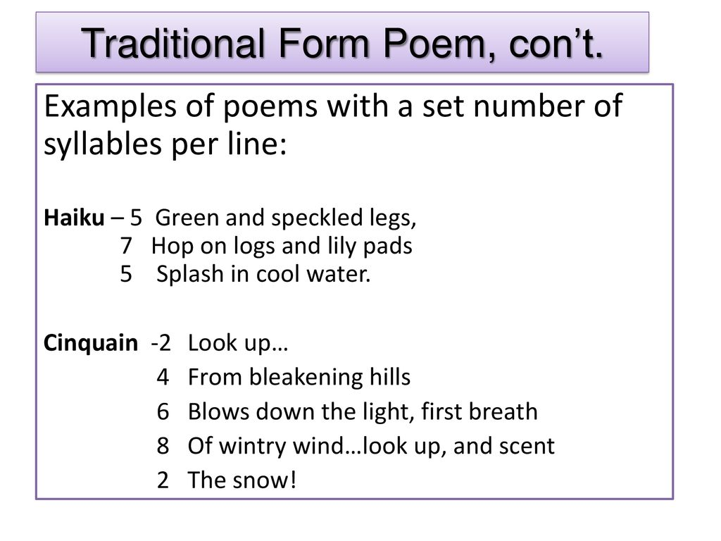 Poetry Terms  - ppt download