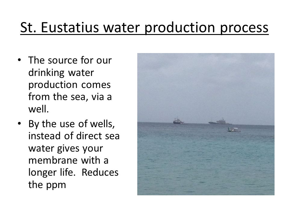 St. Eustatius water production process