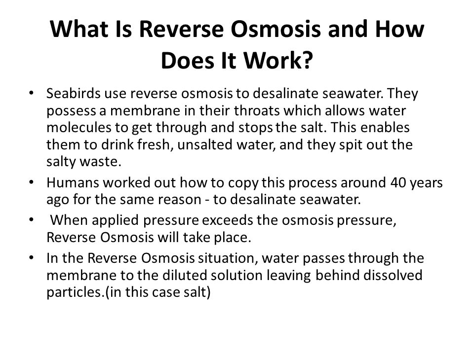 What Is Reverse Osmosis and How Does It Work