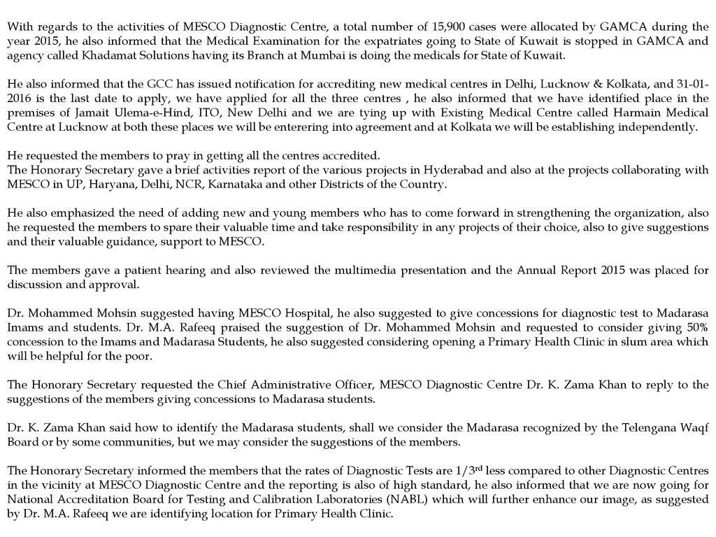 MUSLIM EDUCATIONAL SOCIAL & CULTURAL ORGANISATION ANNUAL