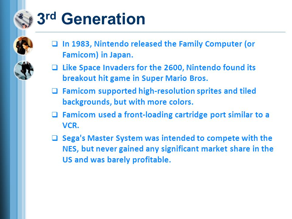 History of Game Consoles - ppt video online download