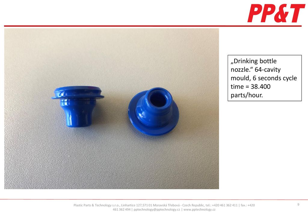 A short presentation of the plastic parts and moulds for cups and