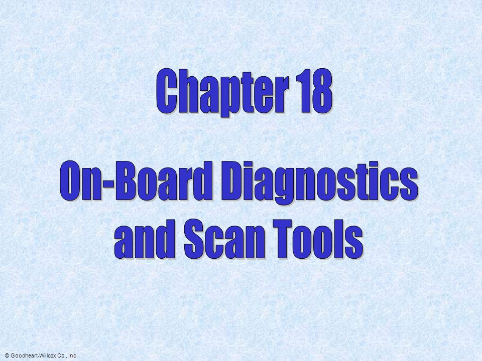 Chapter 18 On-Board Diagnostics and Scan Tools