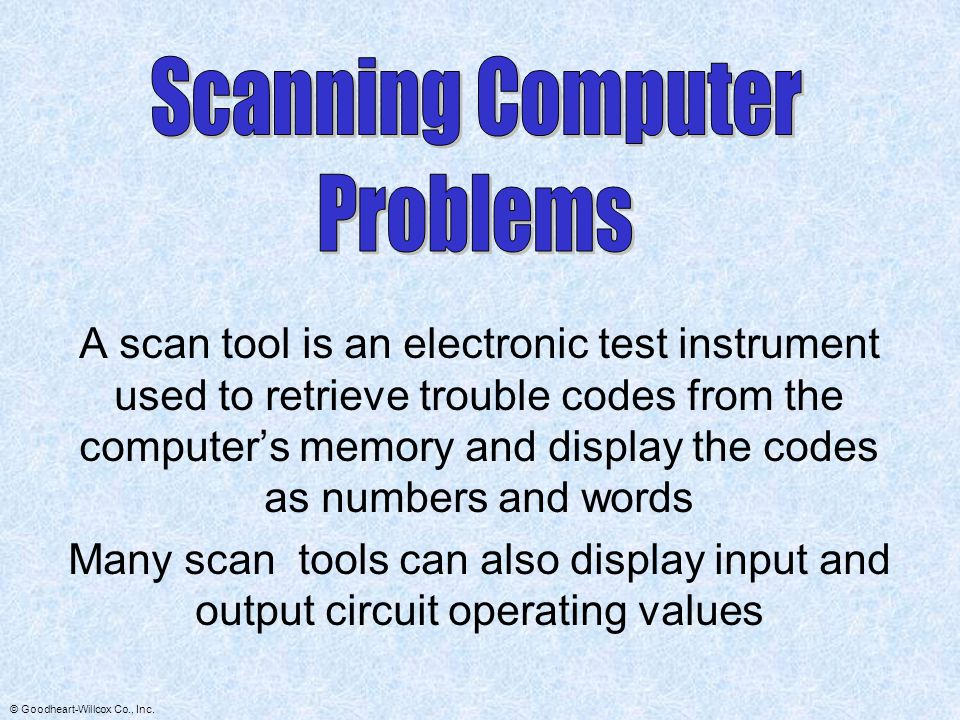 Scanning Computer Problems