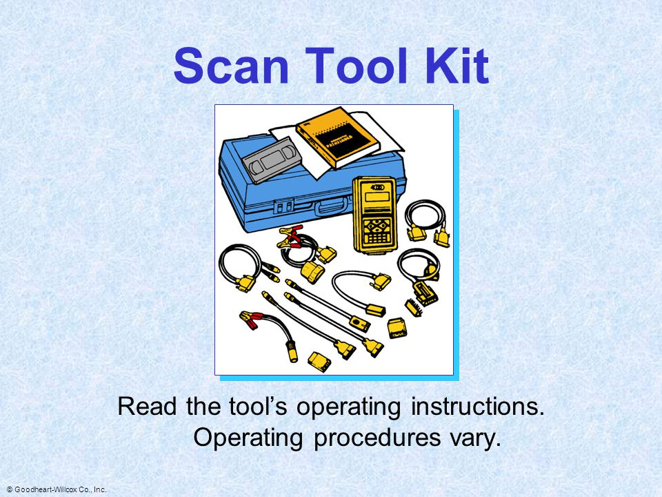 Read the tool's operating instructions. Operating procedures vary.