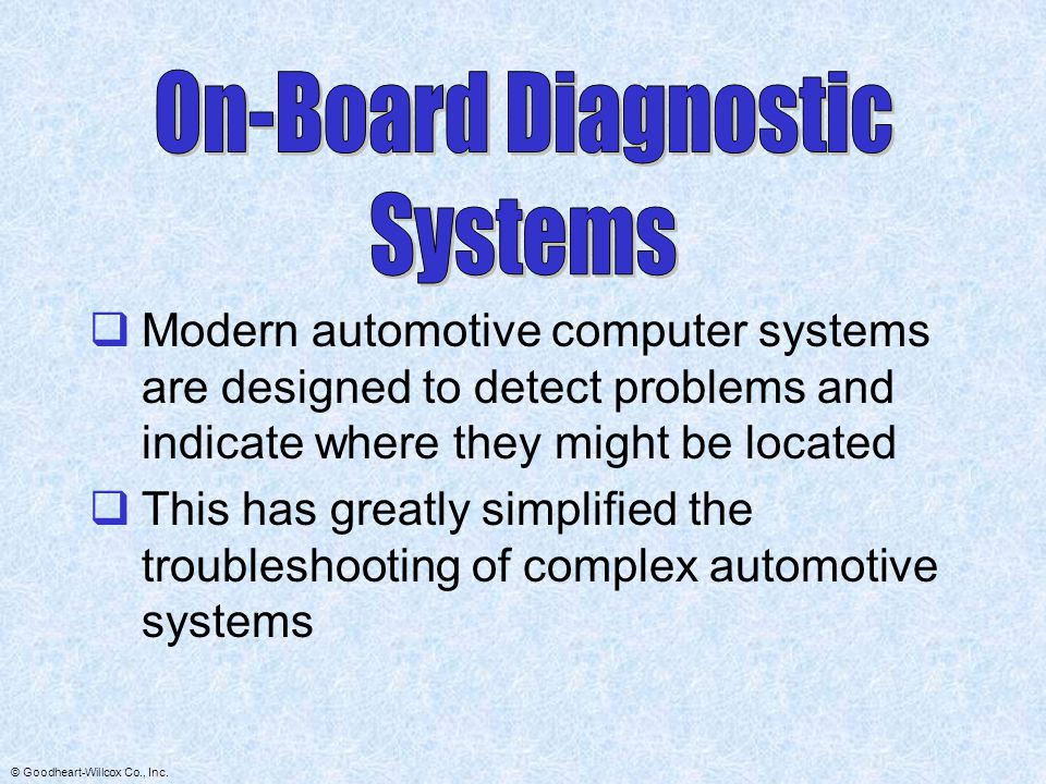 On-Board Diagnostic Systems