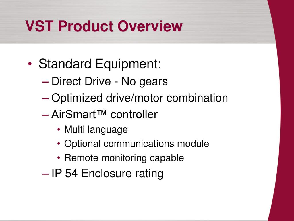 VST Product Introduction - ppt download