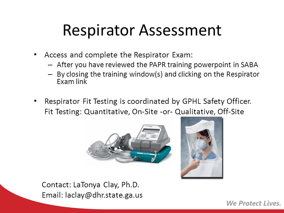 GPHL Respirator Training - ppt video online download
