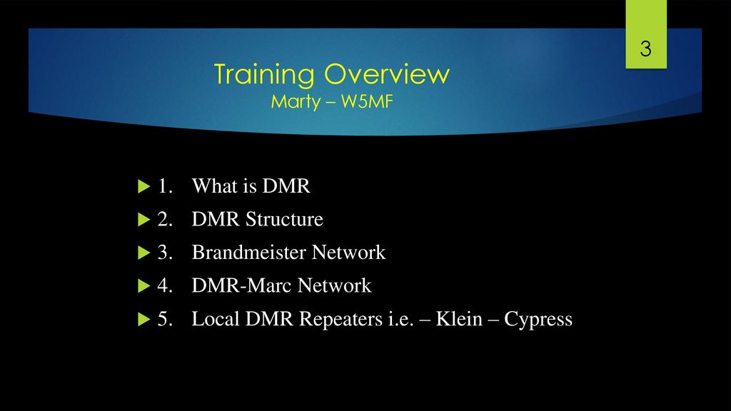 DMR Radio Training Instructors Digital Mobile Radio communications