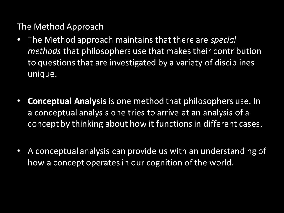 The Method Approach