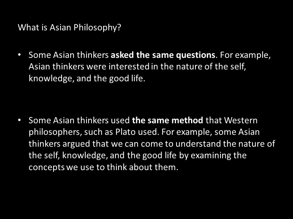What is Asian Philosophy