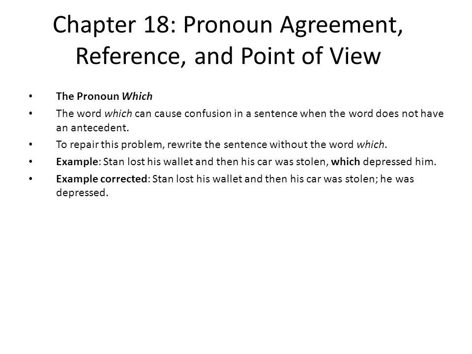 1b26469a8e7 Chapter 18  Pronoun Agreement