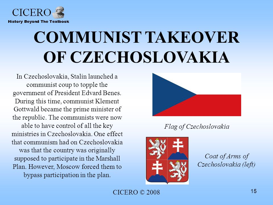 Image result for communist complete takeover of czechoslovakia